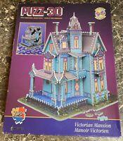 PUZZ 3D Victorian Mansion Puzzle 700 Piece Wrebbit Vintage 1994 House Used