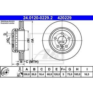 2 Disque de frein ATE 24.0120-0229.2 convient à BMW