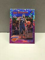 2019-20 NBA Hoops Premium Stock Zion Williamson Tribute #296 Purple Disco PrizRC