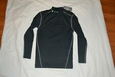 Under Armour Men's Ua ColdGear Compression Mock Black Shirt Sz L Lg Large