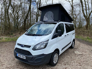 Ford transit custom camper campervan with pop top roof stage 1 Conversion