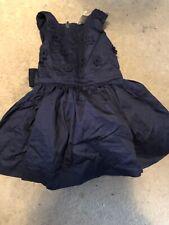 Osh Kosh Baby Girls Navy Blue Sleeveless 3D Floral Patt Full Skirt Dress 6 M