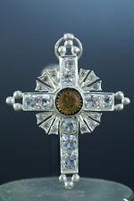 Croix 19ème Franc Maçonnerie - Bijou de Chevalier Rose Croix en Argent rare