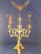 *SALE~TAXIDERMY BAT CANDELABRA DECOR-creepy,oddity,macabre, witch, voodoo