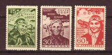 Russia 1939 Non-stop flight Moscow-Far East Scott 718-720 MNH