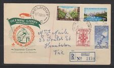 1956 Melbourne Olympics  Registered  FDC  cover  .Belmont Victoria #2159
