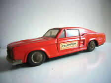 Clover Toys: Ford Mustang fastback tinplate friction car, 1960s, made in Korea