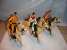 Vintage Hartland 500 Series Roy Rogers Jim Hardy (2) And Horses / Original