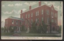 Postcard GROVE CITY Pennsylvania/PA  College Administration Building 1907