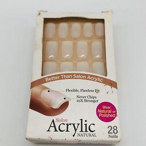 Kiss Salon Acrylic Natural Acrylic Nails, Medium 28 Nails New