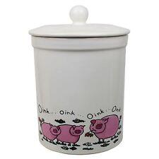 Melbury White Pig Ceramic Compost Caddy - Kitchen Compost Bin