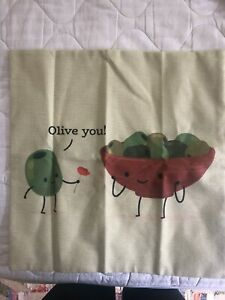 Cute Brand New Pillow Cover - Olive You!
