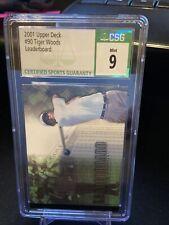 New listing 2001 Upper Deck Golf Tiger Woods ROOKIE RC #90 CSG 9 MINT
