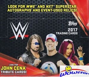 2017 Topps WWE Wrestling MASSIVE 24 Pack Retail Box-168 Cards-Jon Cena Tribute