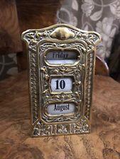 More details for rare antique german jugendstil brass art nouveau perpetual desk calendar
