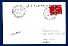"""NORWAY - NORVEGIA - 1971 - BUSTA - Dalla motonave """"SONG OF NORWAY"""" a Pesaro"""