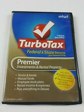 Intuit TurboTax Premier Investments & Rental Prop. Federal + e-File + State 2010