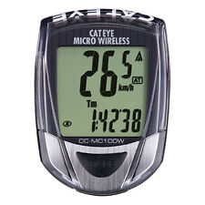 Cateye Micro Wireless Bicycle Computer Black Bike Speedometer CC-MC100 Display
