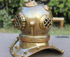 Mini Divers Diving Helmet Nautical Scuba Antique U.S.Navy Home & Office Decor