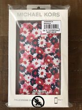 NWT $80 MICHAEL KORS Carnation Folio Case For iPhone X