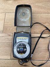 Gossen Lunasix 3 Exposure Light Meter for Leica Nikon Hasselblad Mamiya Bronica