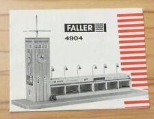 Faller AMS  -- Original Anleitung für Bausatz 4904 !