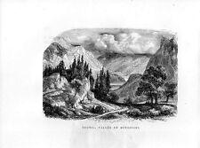 Stampa antica PASSO di BRUNIG da Meiringen Obvaldo Berna 1885 Old print
