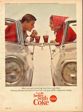 1965 Vintage ad for Coca-Cola`60's Car`Classic Coke Glasses (121413)