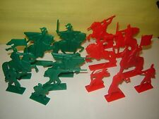 """2 SETS """"7 Russian warriors""""+""""7 Knights"""" Original PLASTIC Soldier TOY NEW Nowdays"""