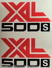 HONDA XL500S SIDE PANEL DECALS