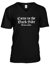 Come To The Dark Side We Have Cookies Funny Humor Meme Joke Mens V-neck T-shirt