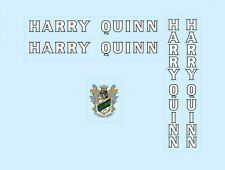 White With Silver Key Set 5 Harry Quinn Bicycle Decals Transfers Stickers