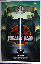 Jurrasic Park 3d Theater Promo Poster 11x17 Inches Looks Great Very Rare Print