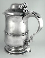 RARE Georgian Sterling Tankard by Peter & Ann Bateman (London 1800-1801)