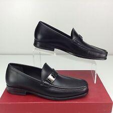 Salvatore Ferragamo Marno 0617482 Nero Calf Loafer 7 D Vara Buckle Black Slip On