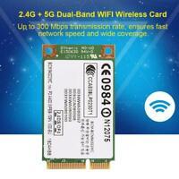 2.4+5G 300M 802.11a/g/n Wireless WiFi Mini PCI-E Network Card For Win 7/8/10 SPM