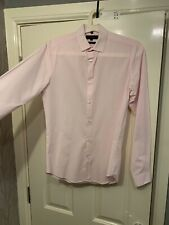 RIVER ISLAND MENS MAN SLIM FIT SHIRT SIZE XS EXTRA SMALL MENS LIGHT BABY PINK