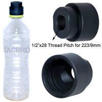 Black Aluminum 9MM Soda Pop Bottle 1/2x28 TPI Cleaning Patch Trap Muzzle Adapter