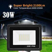 30W Led Flood Light Outdoor Spotlight Garden Yard Square 6000K Cool White IP65
