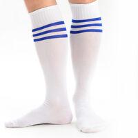 Funky Striped Knee High Athletic Football Socks 1 Pair of Sport Socks Six Colour