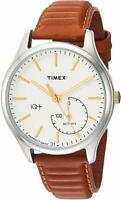 Timex Men's TW2P94700 IQ+ Move Activity Tracker Caramel Brown Leather Strap