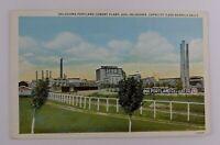 Postcard Linen Oklahoma Portland Cement Plant in Ada Oklahoma