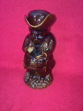 LB5 Staffordshire Brown Glaze Rockingham Type Toby Jug With Lid Ca. 1840 B
