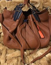 NWT COACH LEGACY DRAWSTRING XL LEATHER CROSSBODY PILOT SHOULDER BAG SADDLE BROWN