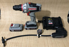 CRAFTSMAN BOLT-ON 20V Power Drill & Inflator Attachment 2 Batteries & Charger