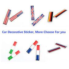 2pcs Italian Flag Car Decorative Sticker Emblem Decal Fender Bumper Zinc Alloy