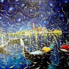 ''Venezia, polvere di stelle'', olio su tela Maestro Roberto Masia