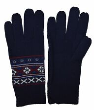 Brooks Brothers Women's Nordic Merino Wool Blend Gloves, Navy, Size S/M, 8185-6