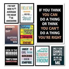 MOTIVATIONAL INSPIRATIONAL PRINTS QUOTE POSTERS,A3 A4 WALL ART DECOR GLOSS PHOTO