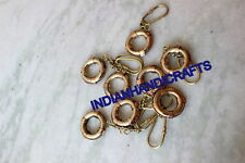 COLLECTIBLE NAUTICAL 150 PCS LIFE RING KEYCHAIN BRASS CHARM DECOR REPRODUCTION